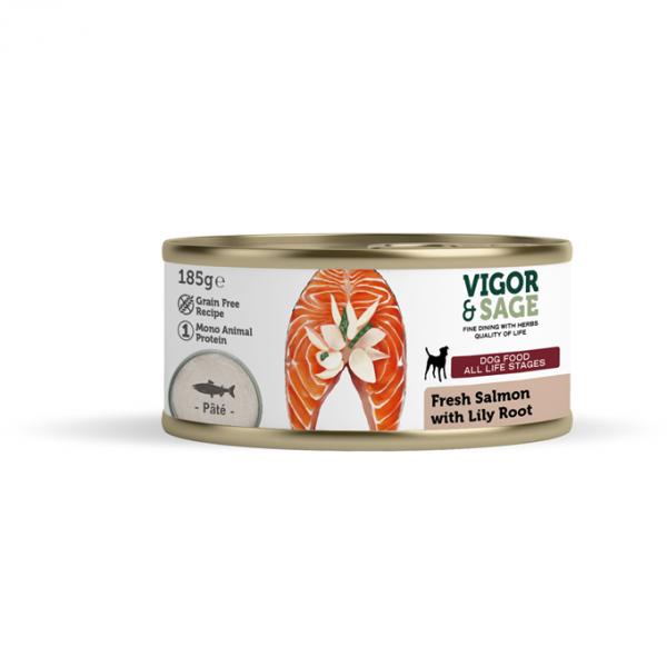 Våtfor til hund Fresh Salmon with Lily Root 185g